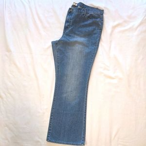 Flare fade blue stretch jeans
